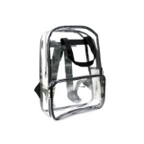 Clear PVC Plastic Backpack with Black Trim