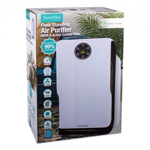 Floor Standing Air Purifier, 100 sq ft Room Capacity, White