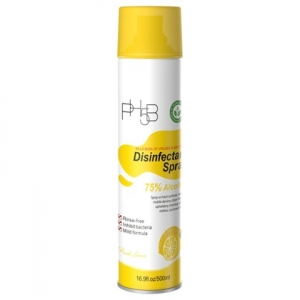 Lemon Disinfectant Spray, 75% Alcohol, 16.9oz, Lemon