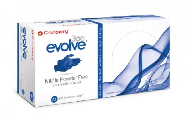 Cranberry Nitrile Gloves, 300 Gloves, Large, PF